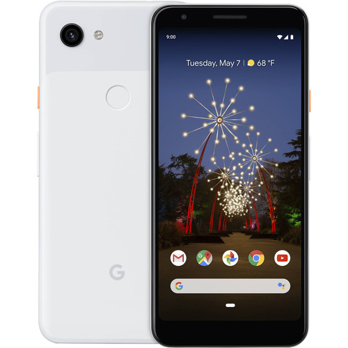 Google Pixel 3a XL Smartphone (Unlocked, Clearly White)