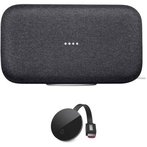Google Home Max and Chromecast Ultra Kit (Charcoal)