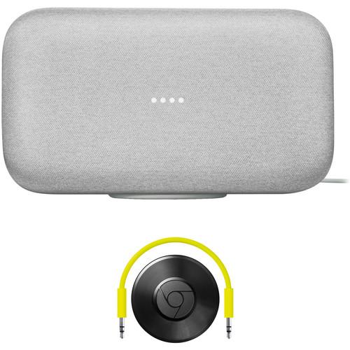 Google Home Max and Chromecast Audio Kit (Chalk)