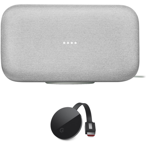 Google Home Max and Chromecast Ultra Kit (Chalk)