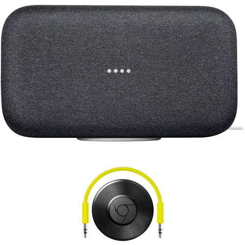 Google Home Max and Chromecast Audio Kit (Charcoal)