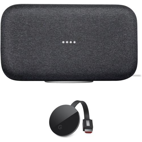 Google Home Max and Chromecast Ultra Kit (Charcoal)