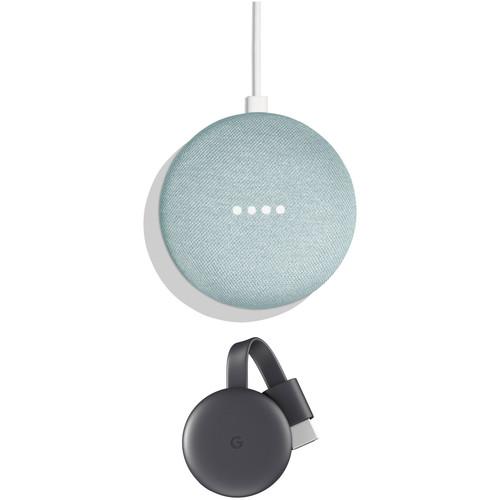 Google Home Mini & 3rd-Generation Chromecast Kit (Aqua)