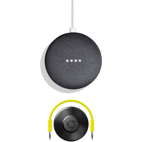 Google Home Mini and Chromecast Audio Kit (Charcoal)
