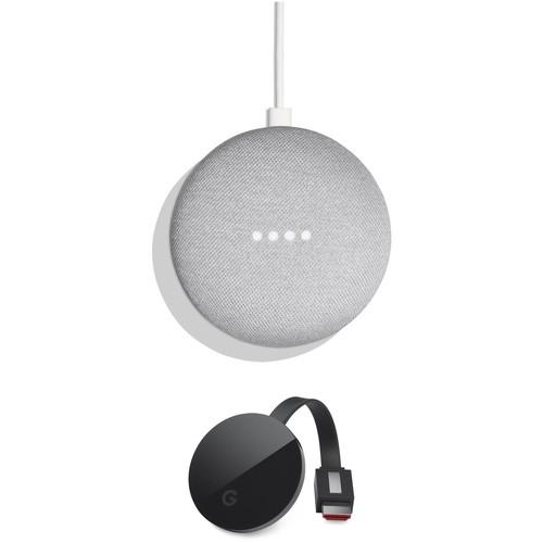 Google Home Mini and Chromecast Ultra Kit (Chalk)