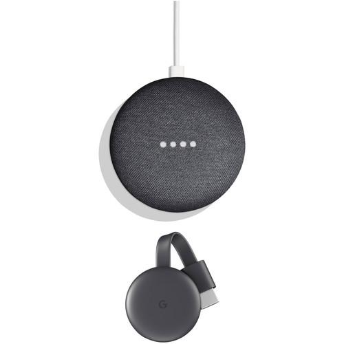 Google Home Mini Kit with 2nd-Gen Chromecast (Charcoal)