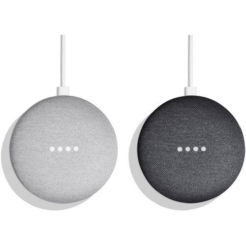 Google Home Mini Virtual Assistant Speaker Pair Kit + Google Home Mini