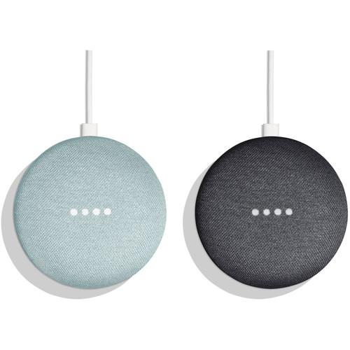Google Home Mini Pair Kit (One Aqua, One Charcoal)