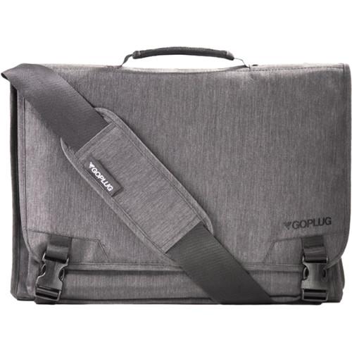 GoPlug Computer Messenger Bag (Heathered Gray)