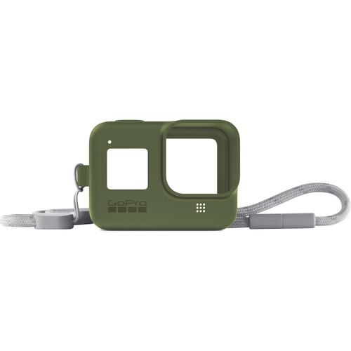 GoPro Silicone Sleeve and Adjustable Lanyard Kit for GoPro HERO8 (Turtle Green)