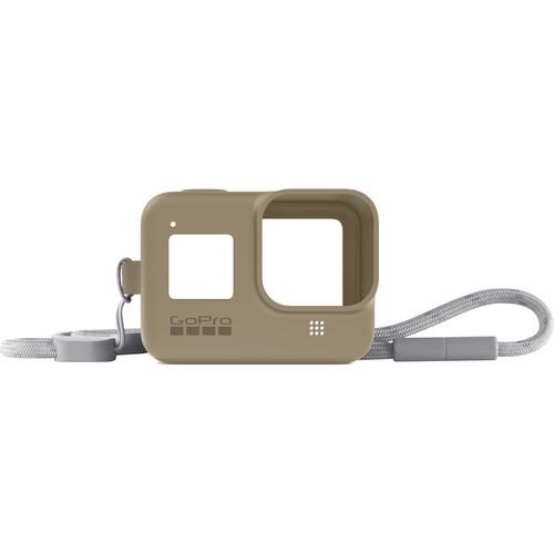 GoPro Silicone Sleeve and Adjustable Lanyard Kit for GoPro HERO8 (Sand)