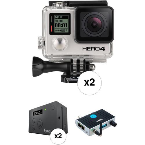 GoPro Dual HERO4 Black SyncBack PRO & :pulse Timecode Kit