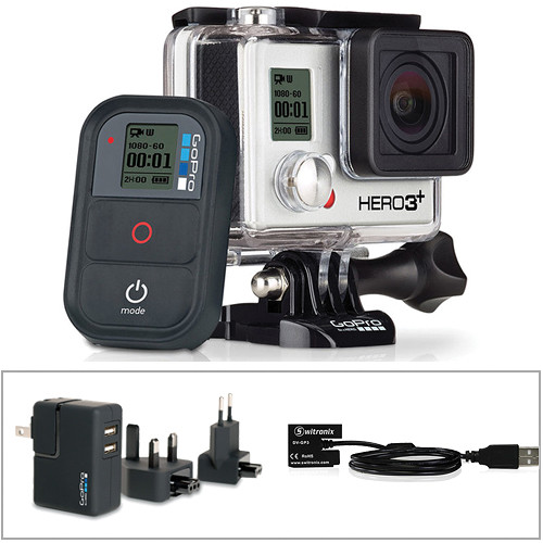 GoPro GoPro HERO3+ Black Edition w/ GoPro Wall Charger & Battery Eliminator