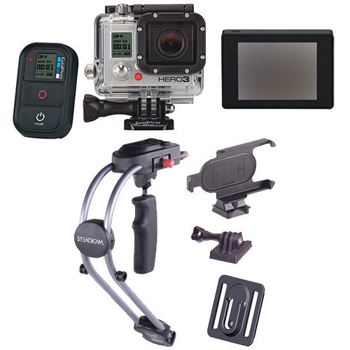 GoPro HERO3: Black Edition Camera with LCD Touch BacPac & Smoothee Kit