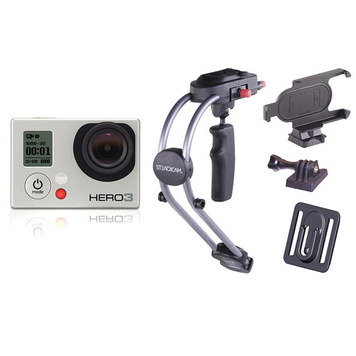 GoPro HERO3: Silver Edition Camera with LCD Touch BacPac & Smoothee Kit
