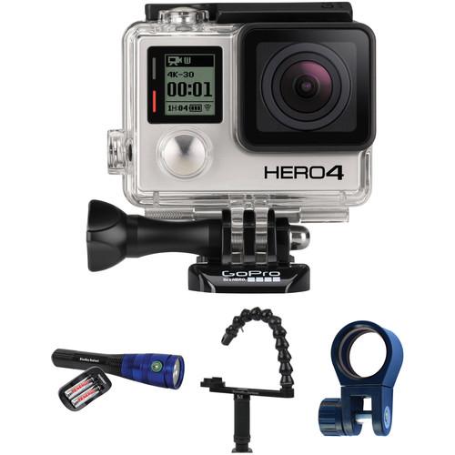 GoPro HERO4 Black with Underwater Lighting Kit