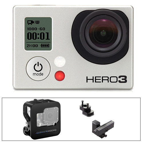 GoPro HERO3: Black Edition Camera with Cobalt Cage & Accessory Kit