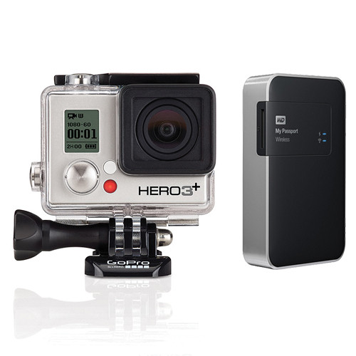 GoPro HERO3+ Silver and WD 2TB My Passport Wireless Kit