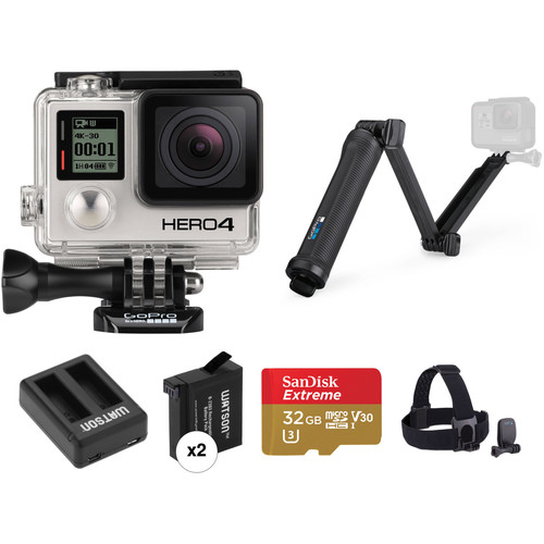 GoPro GoPro HERO4 Black Dual Battery, Charger, and Mount Kit