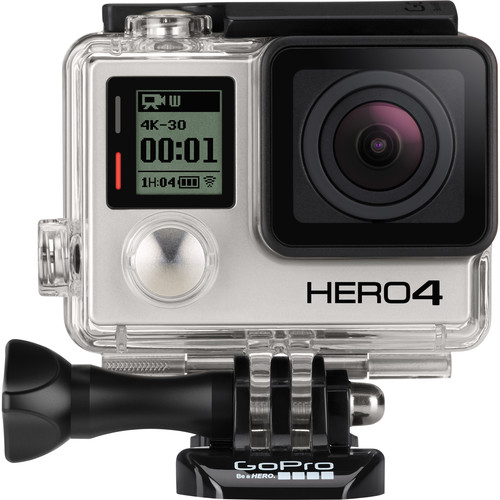 GoPro HERO4 Black with QR Frame and Production Microphone Kit