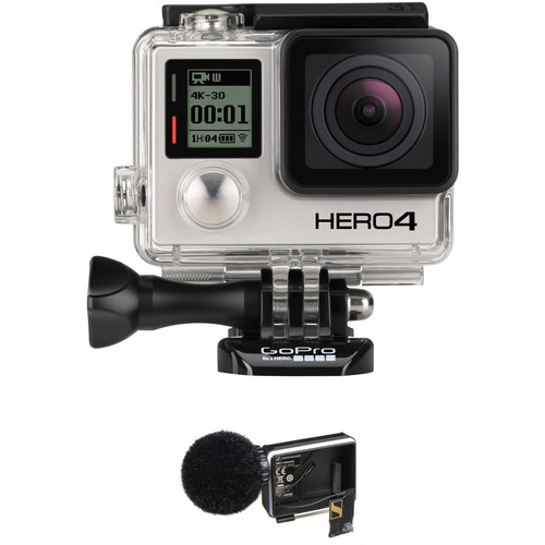GoPro HERO4 Black with Sennheiser MKE2 Elements Microphone Kit