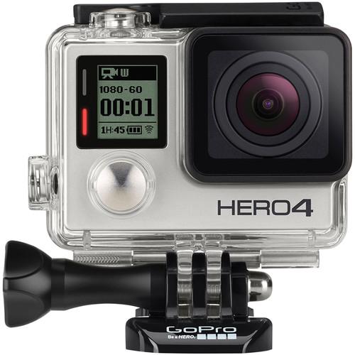 GoPro HERO4 Silver & Aluminum Orbit Pole Cinema Stick Blue Kit