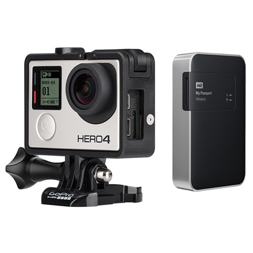 GoPro HERO4 Silver and WD 2TB My Passport Wireless Kit (Music Edition)