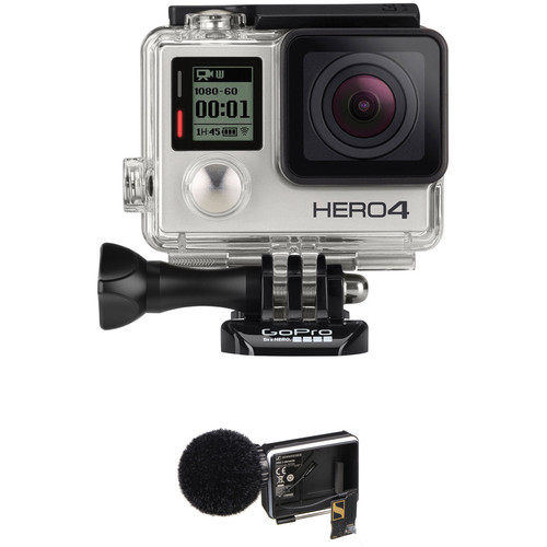 GoPro HERO4 Silver with Sennheiser MKE2 Elements Microphone Kit