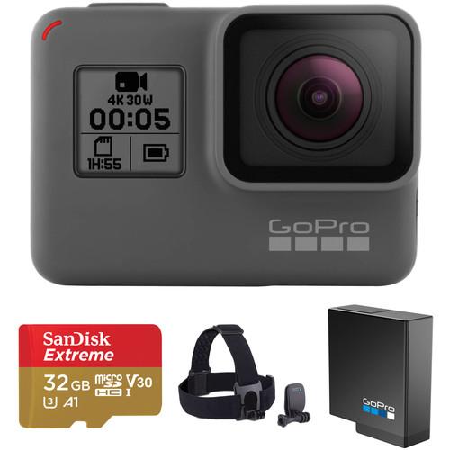 GoPro HERO5 Black Kit with Head Strap, Battery, 32GB microSDHC & Case