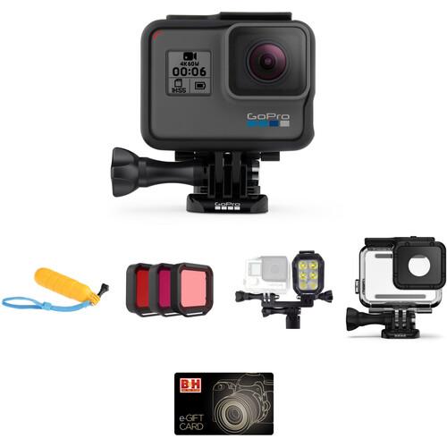 GoPro HERO6 Black Underwater Kit with LED Light