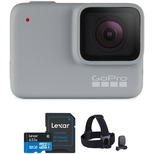 GoPro HERO7 White Kit with Head Strap and 32GB Card
