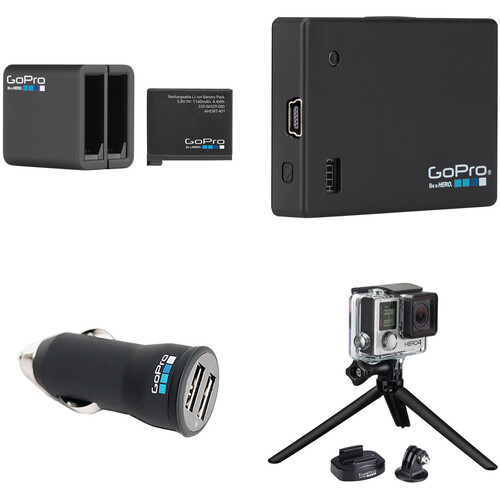 GoPro Official Accessory Bundle with Battery, BacPac, Charger, and Mounts