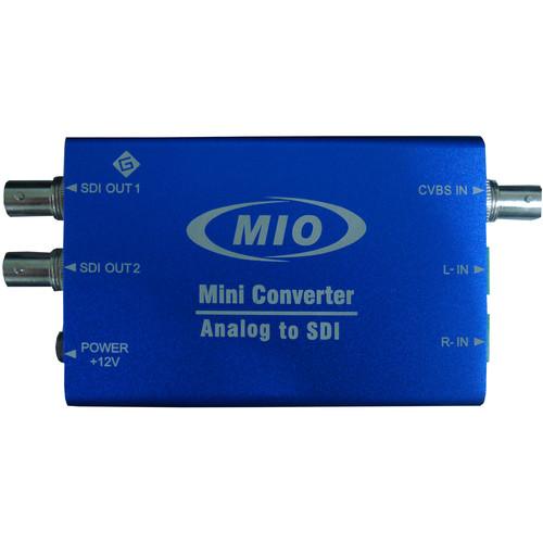 Gra-Vue MIO Mini Analog Video & 2-Channel Audio to SDI Video Embedded Converter