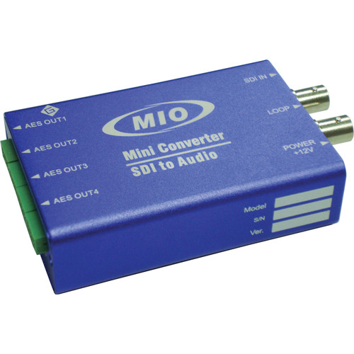 Gra-Vue MMIO DEMUX-HDSDI-AES 3G/HD/SD-SDI to AES Audio De-Embedder