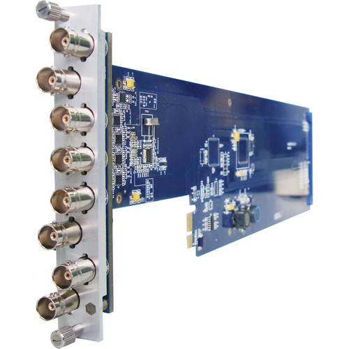 Gra-Vue XIO 9000VSD-HD 1 x 7 HD/SD-SDI/ASI Signal Distribution Amplifier Card with Re-clocking (for 1RU Frame)