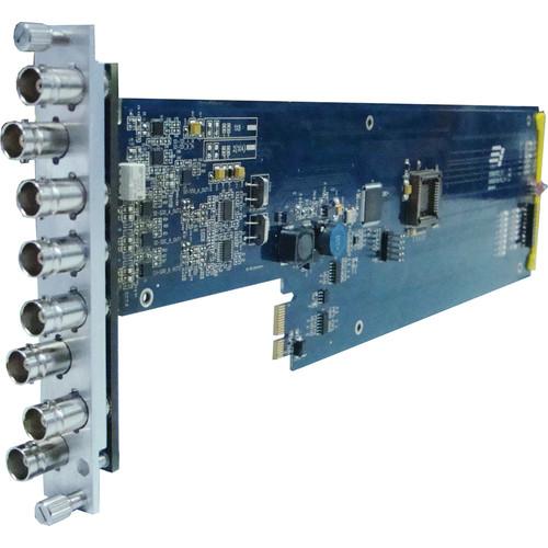 Gra-Vue XIO 9000VSD-RC 1 x 7 SD-SDI / ASI Signal Distribution Amplifier Card with Re-clocking (for 3RU Frame)