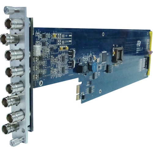 Gra-Vue XIO 9001VSD-RC Dual 1 x 3 SD-SDI / ASI Signal Distribution Amplifier Card with Re-Clocking (for 1RU frame)
