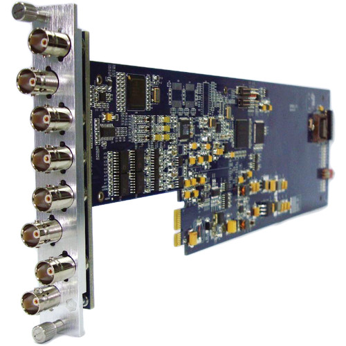 Gra-Vue XIO 9010DEC-4AUD-3U Composite to SDI Converter Audio Embedding for XIO Series Frames (3RU)