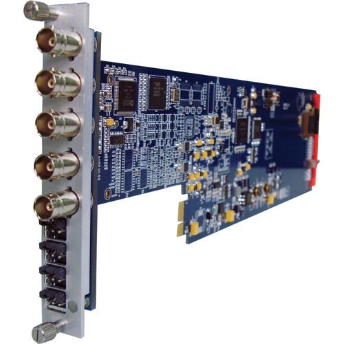 Gra-Vue XIO 9010DES-4AUD-1U Composite to SDI Converter Audio Embedding for XIO Series Frames (1RU)