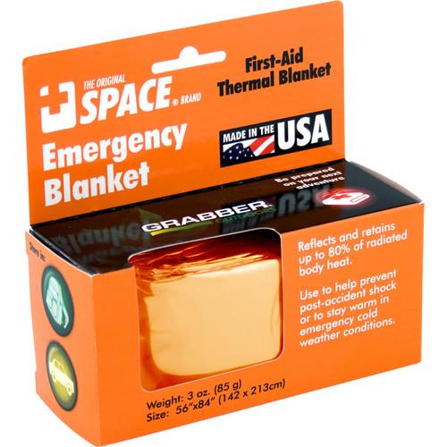 Grabber Emergency Space Blanket (Orange)