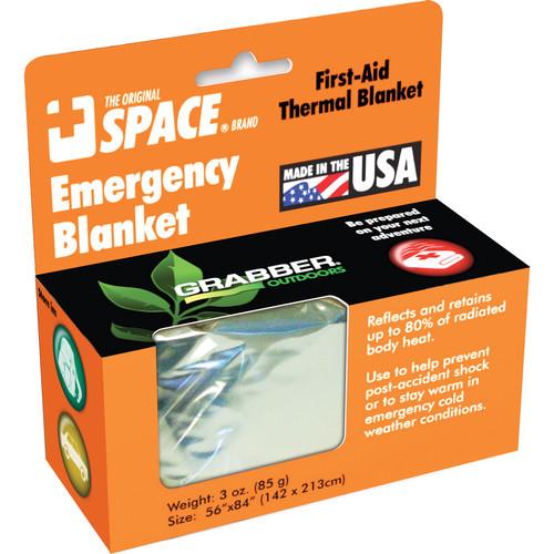 Grabber Emergency Space Blanket (Silver)