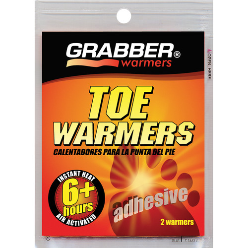 Grabber Toe Warmers - Single-Use Air-Activated Heat Packs (One Pair)