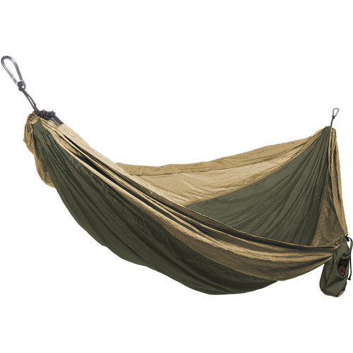 Grand Trunk Double Parachute Nylon Hammock (Olive Green/Khaki)