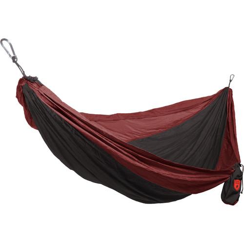 Grand Trunk Double Parachute Nylon Hammock (Crimson/Charcoal)