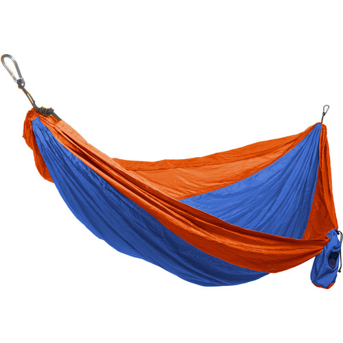 Grand Trunk Double Parachute Nylon Hammock (Orange/Blue)