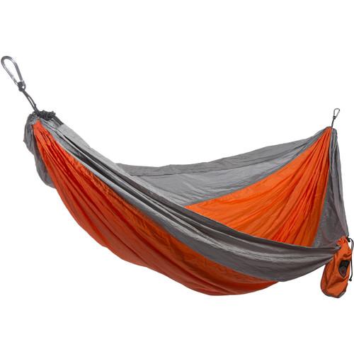 Grand Trunk Parachute Nylon Double Hammock Essentials Kit (Orange/Silver)