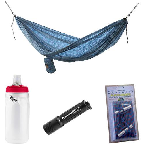 Grand Trunk Parachute Nylon Double Hammock Essentials Kit (Batik)