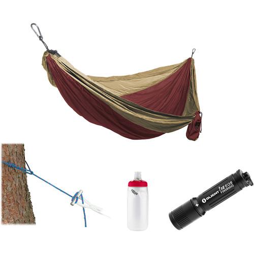 Grand Trunk Parachute Nylon Hammock Essentials Kit (Crimson/Khaki)
