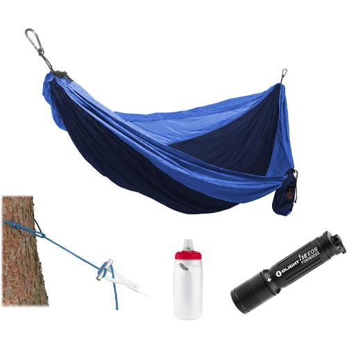 Grand Trunk Parachute Nylon Hammock Essentials Kit (Navy/Light Blue)