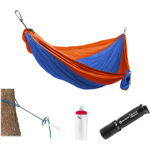 Grand Trunk Parachute Nylon Hammock Essentials Kit (Orange/Blue)